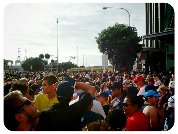 Start line of Round The Bays 2012