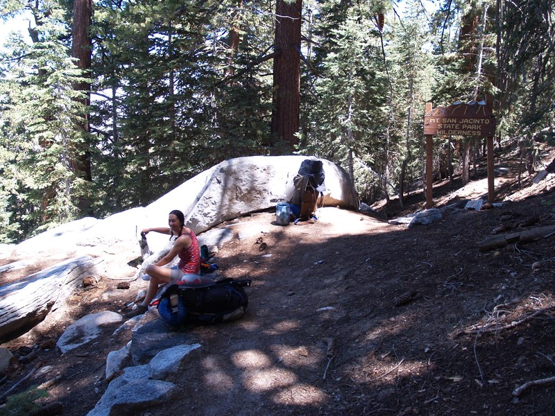 Fuller Ridge Trail - San Jacinto State Park Boundary Sign