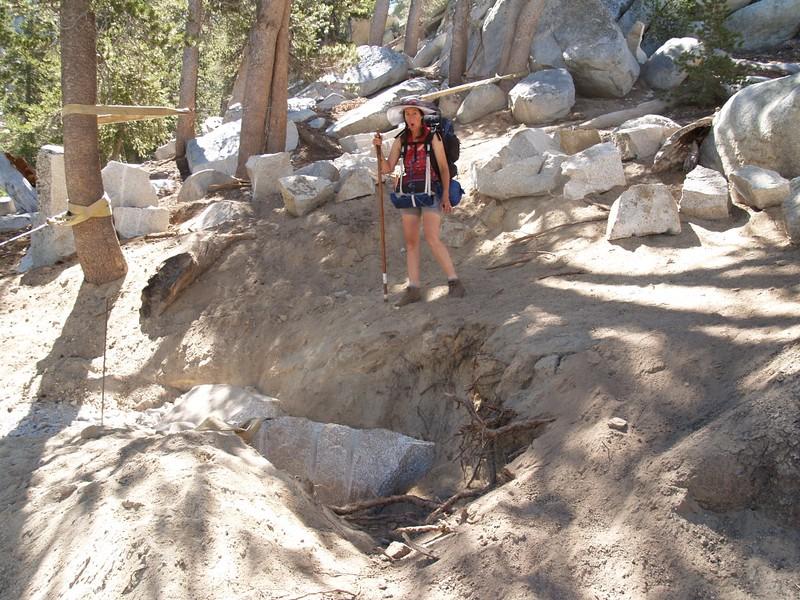 Fuller Ridge Trail - new trail - CCC stone yard