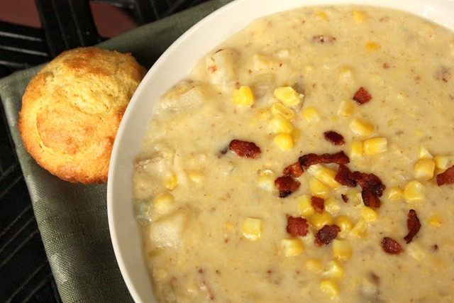 Slow Cooker Crock Pot Corn and Potato Chowder