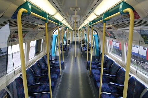 An empty Jubilee Line carriage
