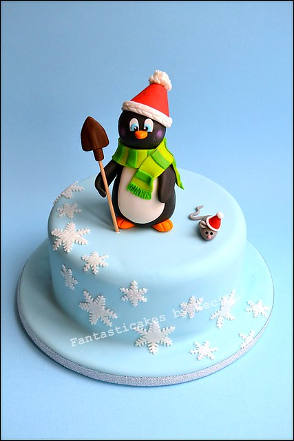 Christmas Cake Ideas With Penguins : Christmas Penguin Cake Flickr - Photo Sharing!
