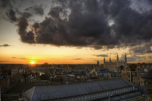 autumn cambridge sunset fall skyline cityscape hdr