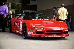 nissan(0.0), race track(0.0), race car(1.0), auto racing(1.0), automobile(1.0), racing(1.0), vehicle(1.0), stock car racing(1.0), performance car(1.0), automotive design(1.0), honda nsx(1.0), land vehicle(1.0), coupã©(1.0), supercar(1.0), sports car(1.0),