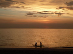 Long beach sunset
