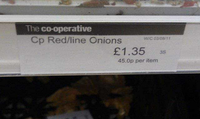 Eye watering offers - try comparing these onions, priced per onion….