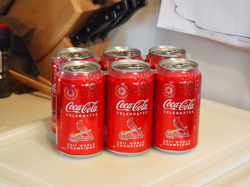 2011 World Series Champion St. Louis Cardinals Commemorative Coke Cans_PB050611 by Wampa-One