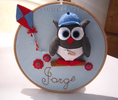 ♥♥♥  El búho de Jorge!!! by sweetfelt \ ideias em feltro