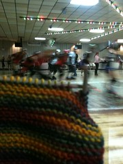 Knitting @ the roller derby