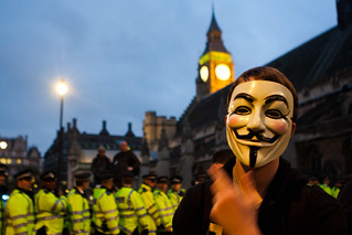Anonymous Protest at Westminster
