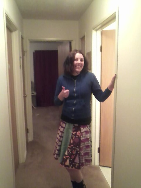 thumbs up for the spinny skirt