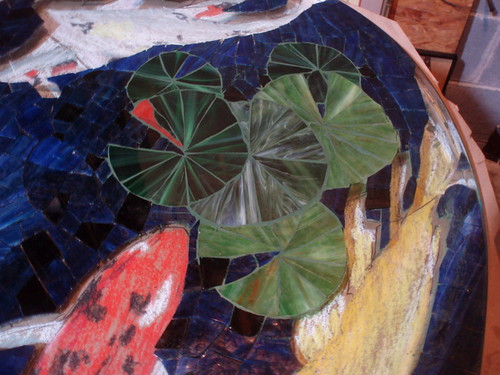 lilypads grouted
