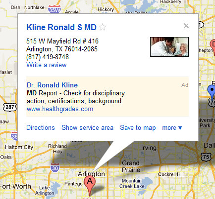 Bad Ad Placements in Google Maps