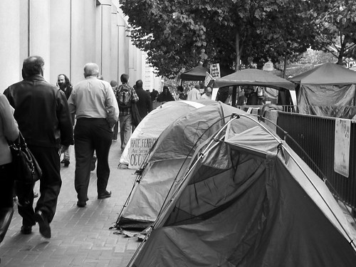 Occupy SF Tents on Market Street