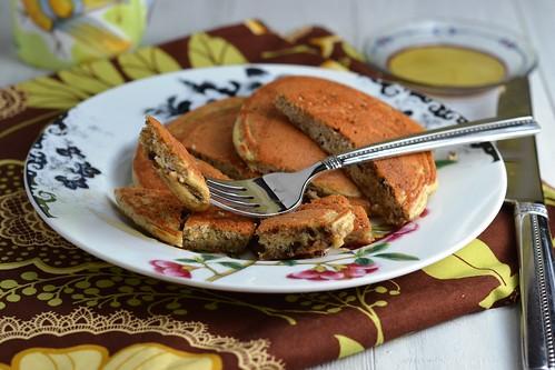 pancakes, protein powder, tofu, cacao
