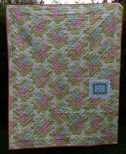 Back of Summer Sampler Quilt