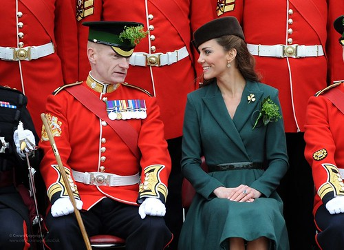 Catherine, Duchess of Cambridge Visits The Irish Guards on St Patrick's Day