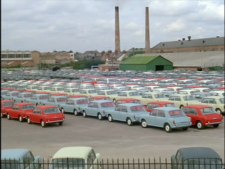 Loads of Austin 1100 & 1300 ADO16 Parked up Ready For Export 1963