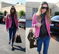 Nicky Hilton Pink Blazer Celebrity Fashion Style