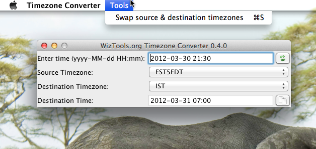 WizTools.org Timezone Converter 0.4.0