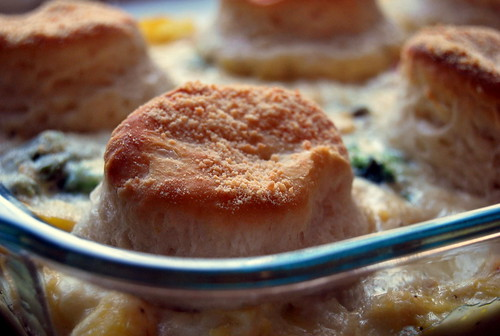 Parmesan Biscuit and Chicken Casserole