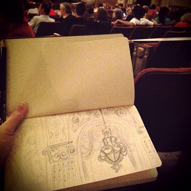 Sketch from last night at Don Pasquale