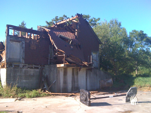 the barn, after the hurricane