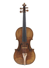 The front of the Guarneri del Gesu violin