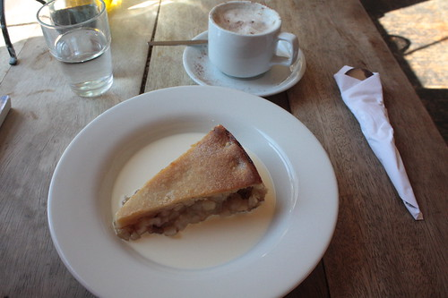 apple pie with cream at the candid café