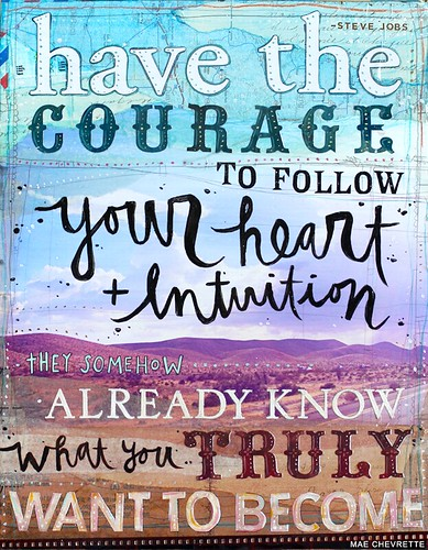 heart + intuition print