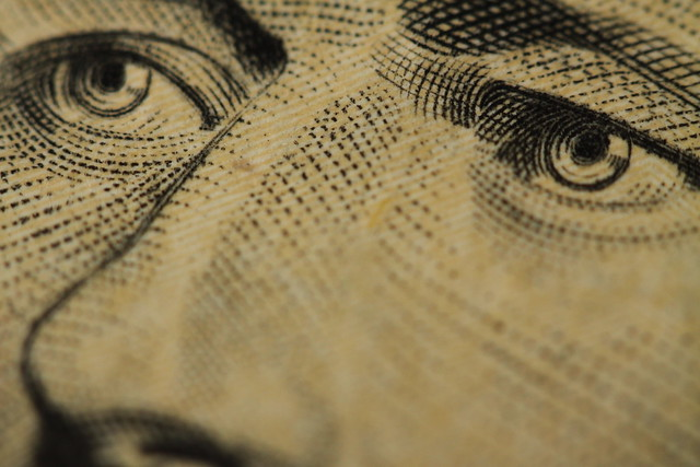 Macro Ten Dollar Bill from Flickr via Wylio