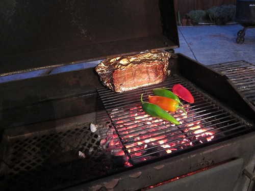 Roasting, wood fire, anaheim chili, lamb chops IMG_8130