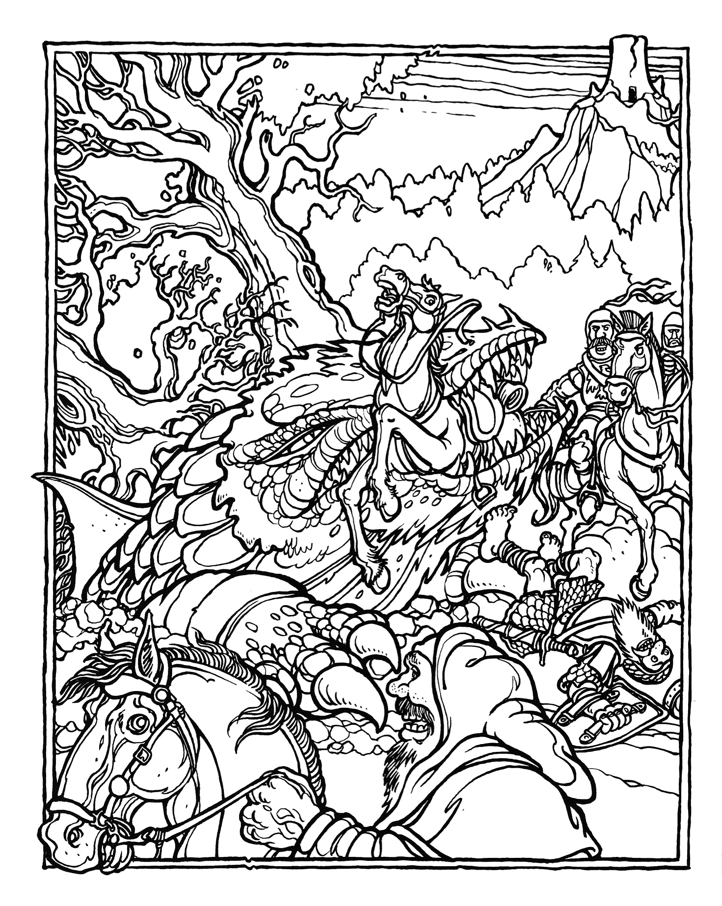 Printable coloring pages and dragons ~ MONSTER BRAINS: The Official Advanced Dungeons and Dragons ...