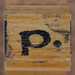 rubber stamp handle letter p