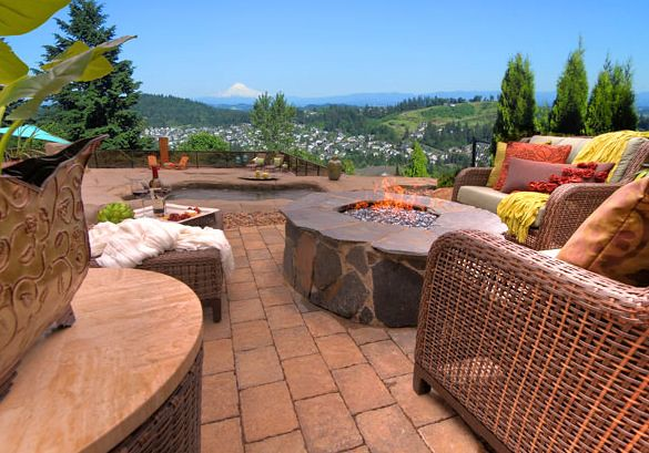 Rustic Stone Fire Pit by Paradise Restored Landscaping ...