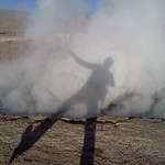 Shadow In the Geyser Steam