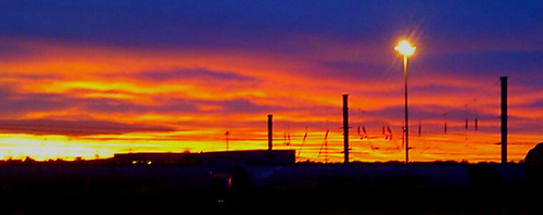 sunrise mossend railway railscape morning nightimages sky colour scotland