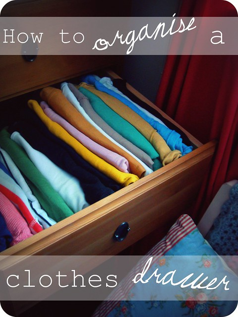How To Organise A Clothes Drawer A Thrifty Mrs