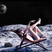 Suntanning on the Moon!