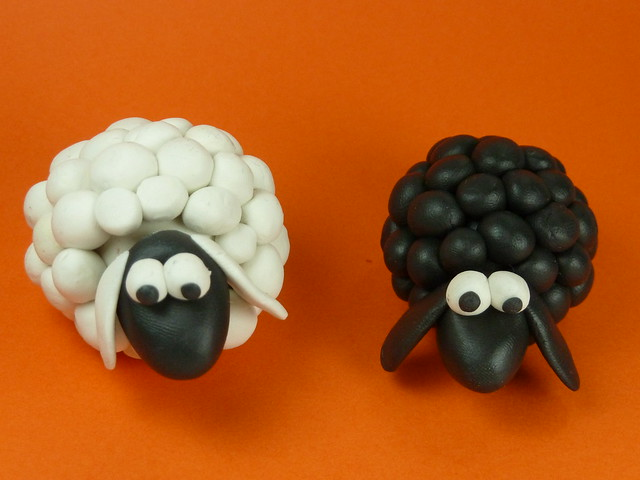 Black Sheep vs White sheep from Flickr via Wylio