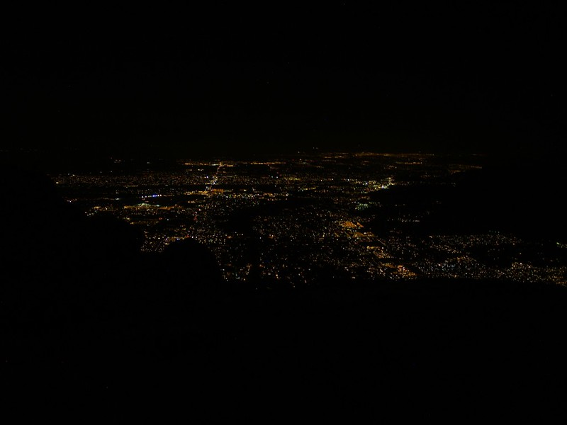 Skyline Trail 3600ft - Night Photo - Lights of Palm Springs