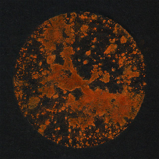 sunspots #8 - rust print - black