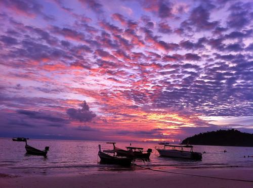 ocean travel beach nature clouds thailand hdr