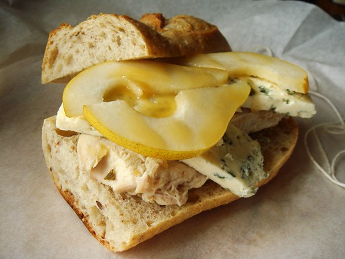 Roasted Turkey Sandwich with Pear & Blue Cheese
