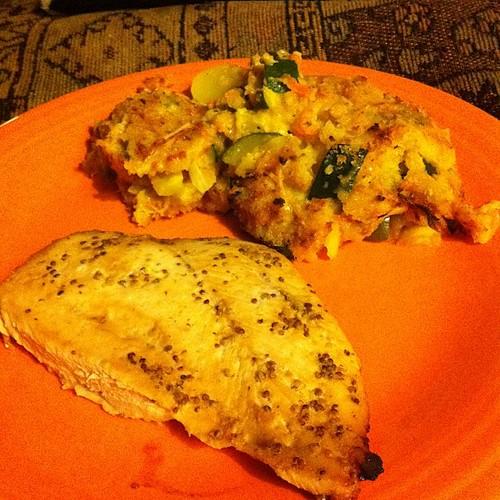 Mustard Chicken & Squash Casserole