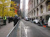 Cedar Street after the eviction of Zucotti Park