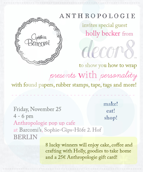 Win a Seat To My Anthropologie Crafting Class in Berlin!