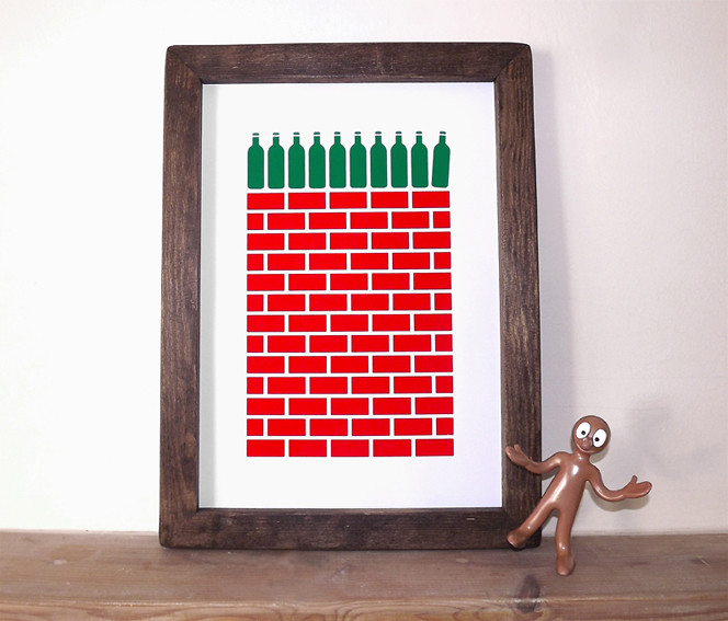 Ten Green Bottles - Framed