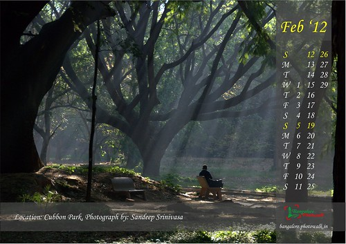 Bangalore Photowalk: Calendar 2012