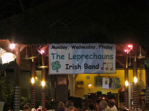 I couldn't stop giggling at the notion of an Irish band for tourists in Indonesia